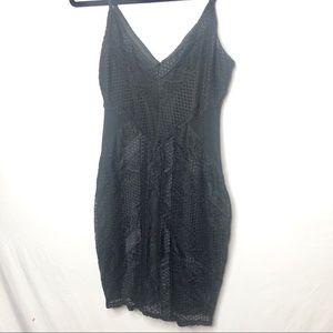 Guess Black Lace Bodycon Mini Dress Size M